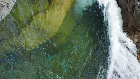 Vertical video. Bath Youth. River Auzun Uzen, the Grand Canyon of Crimea Footage