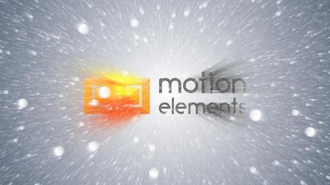 Snow Logo Animation After Effects Template