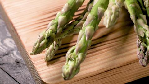Fresh green asparagus Footage