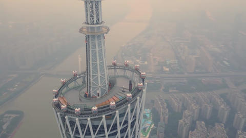 Guangzhou TV & Sightseeing Tower second tallest structure in China standing at Footage