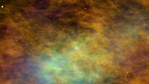 Nebula, Space Clouds and Stars, Flying through the Cosmos Stock Video Footage