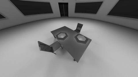 4K Modern High Security Interrogation Room 1 Animation