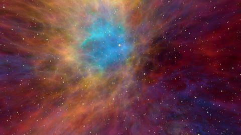 Colorful Nebula and Star Fields, Across the Universe CG動画素材