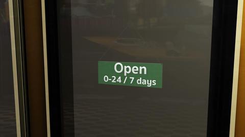 Open Sign on Shop Restaurant Entrance 7 Animation