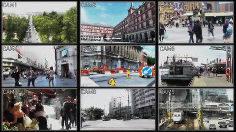 4K Security Cameras in Random City Locations ビデオ