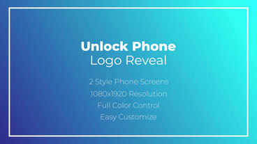 Unlock Phone Logo Reveal After Effects Template