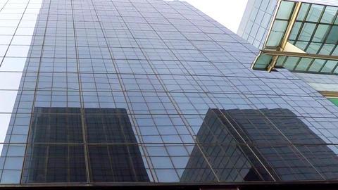 Big Glass Building Downtown Black Windows Footage
