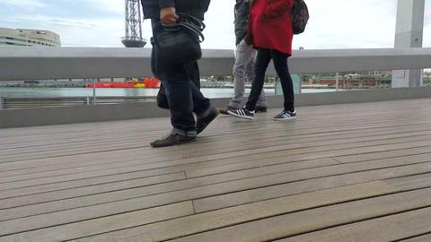 Legs On Pier Bridge Live Action