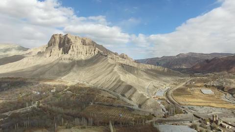 "Village near the mountains ""Demavend"" Mount Demavend is an extinct volcano, the Footage"