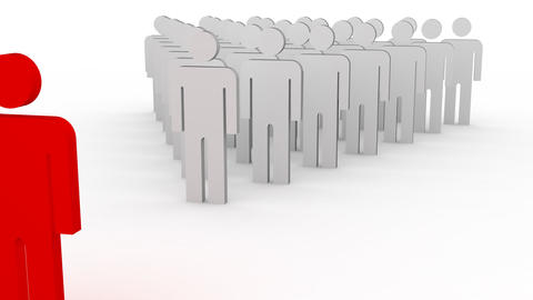 leader and a crowd Animation