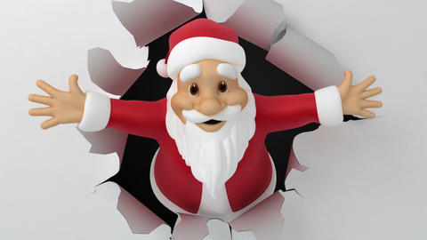 Santa tears the paper Stock Video Footage