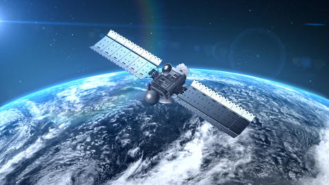 flying modern satellite Animation
