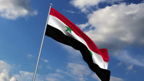 Syrian flag Stock Video Footage