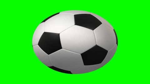 Rotating Soccer Ball stock footage