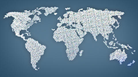 Social Network World Map Animation stock footage
