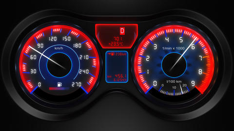 car dashboard animation Animation