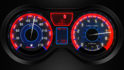 car dashboard animation Stock Video Footage