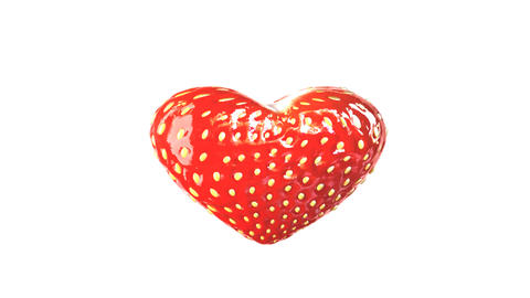 heart made of strawberry Stock Video Footage