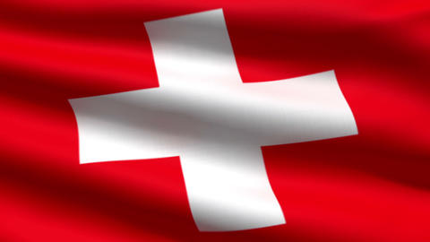 Swiss flag Stock Video Footage