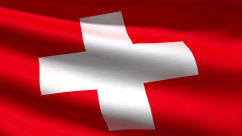 Swiss flag Stock Video Footage