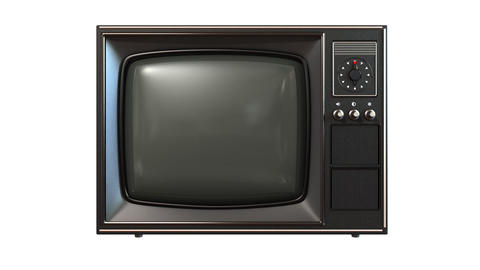 old tv with turning channels Stock Video Footage