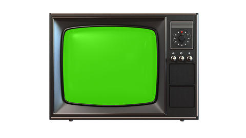 Old Tv With Turning Channels stock footage