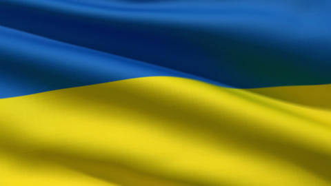 Ukrainian flag Stock Video Footage