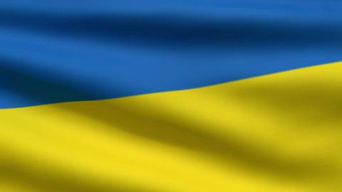 Ukrainian flag Animation