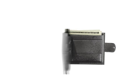 wallet and money Stock Video Footage