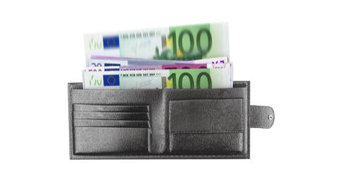 wallet and money Animation