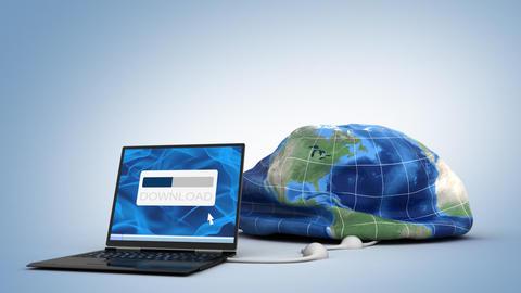 downloading globe Animation