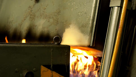Hardening of steel Stock Video Footage
