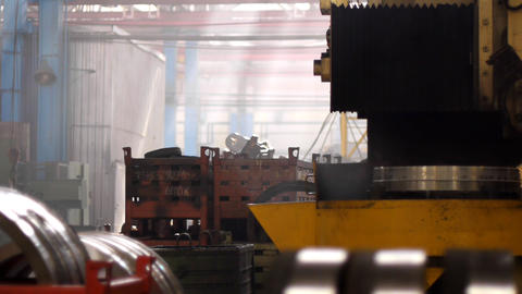 Industrial lathe Footage