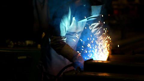 Industrial welding Stock Video Footage