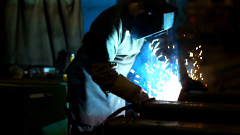 Industrial welding Footage