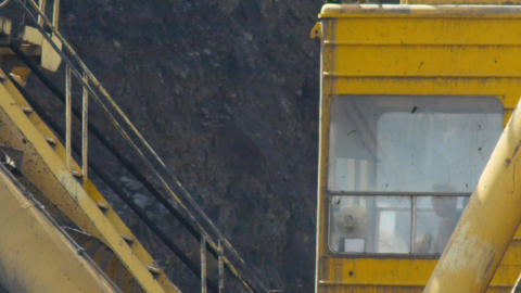 Mining Excavator Stock Video Footage