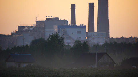 Rural and industrial Stock Video Footage
