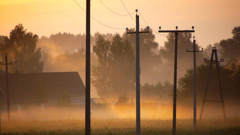 Rural morning Stock Video Footage