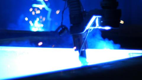 Welding robot Stock Video Footage