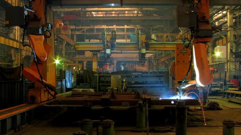 Welding robot TL 3 Stock Video Footage