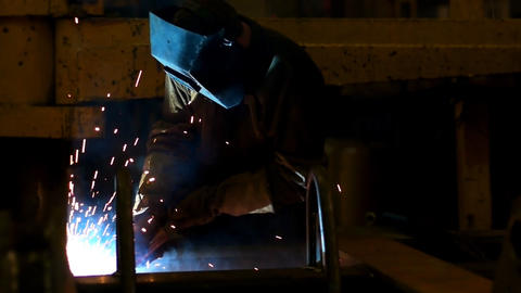 Welding slow motion Stock Video Footage
