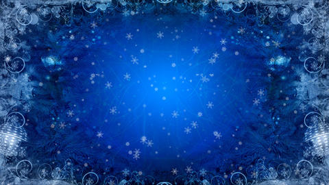 Christmas  Background  Blue stock footage