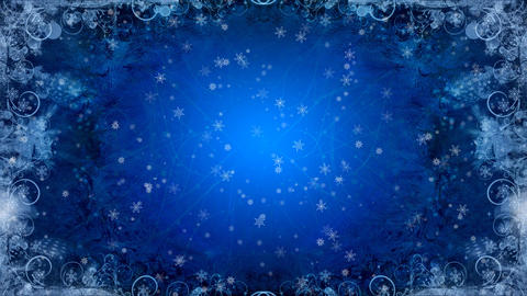 christmas background blue Stock Video Footage