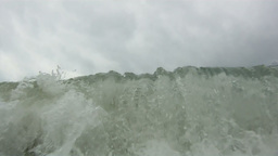 Ocean wave front on tropical sand beach Stock Video Footage