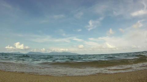 Ocean waves on tropical sand beach Footage