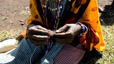 Masai Woman stock footage