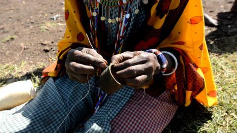 Masai woman Stock Video Footage