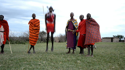 Masai Stock Video Footage