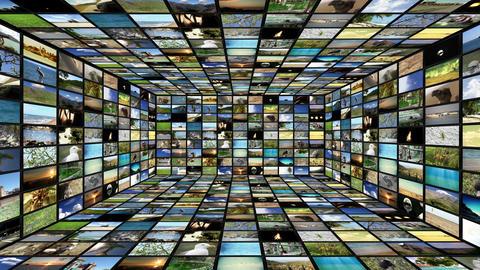 Multimedia TV Wall 04 Stock Video Footage