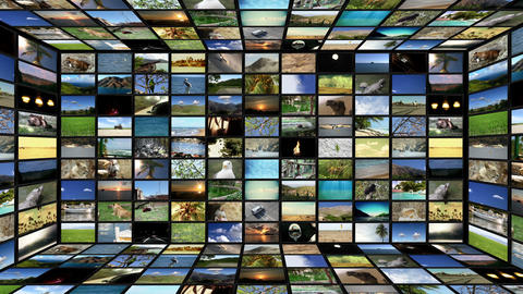 Multimedia TV Wall 04 Stock Video Footage